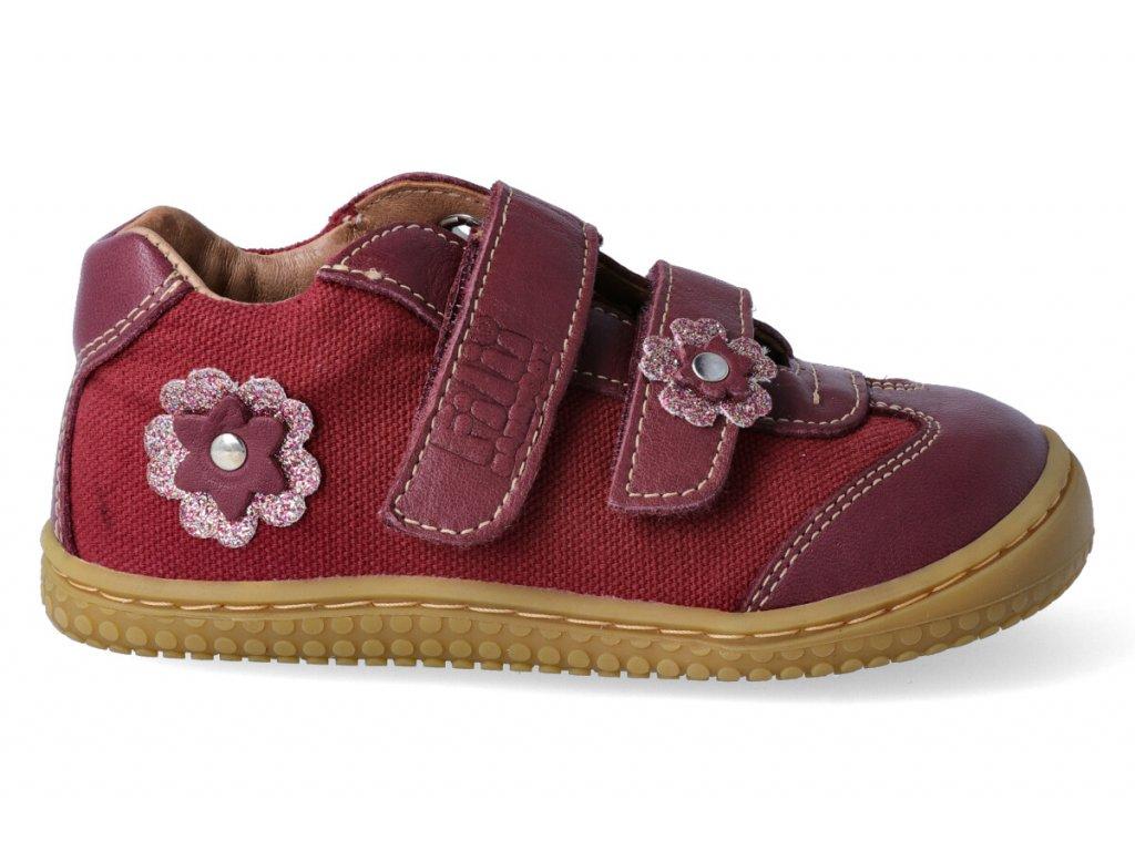 c3808563810 Filii barefoot Leguan Nappa Textile Berry W - bosonožka