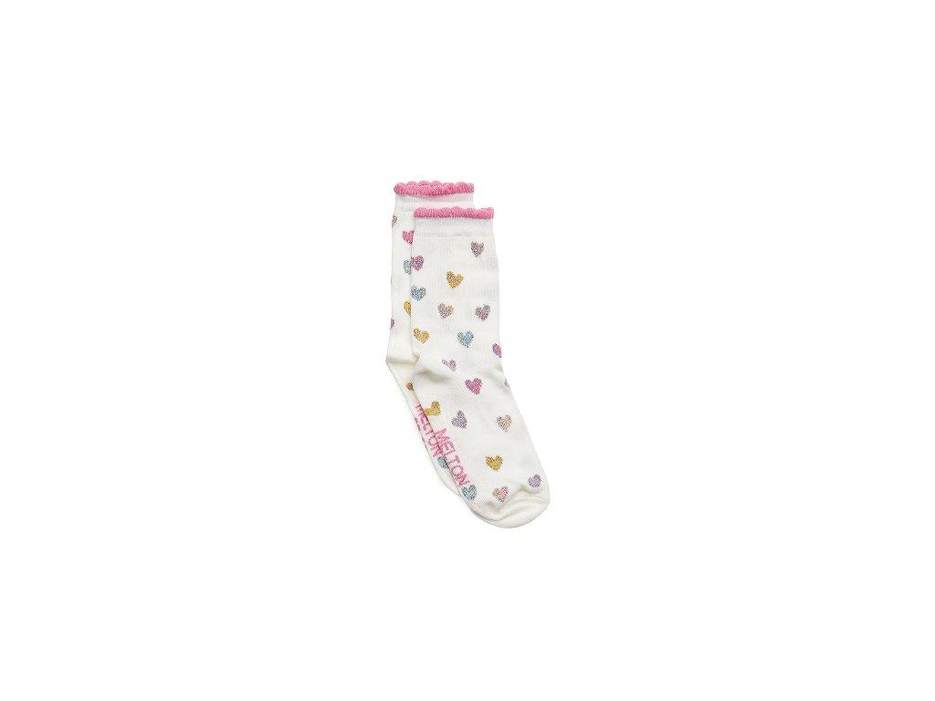 3d61e6d37a9d Move by Melton ponožky Glitter Hearts - bosonožka