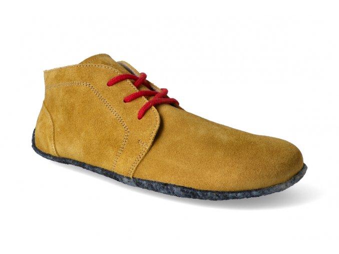 kotnikova barefoot obuv be lenka celorocni mustard 2
