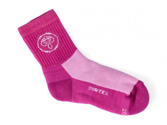 ponozky surtex active 80 merino ruzove 1