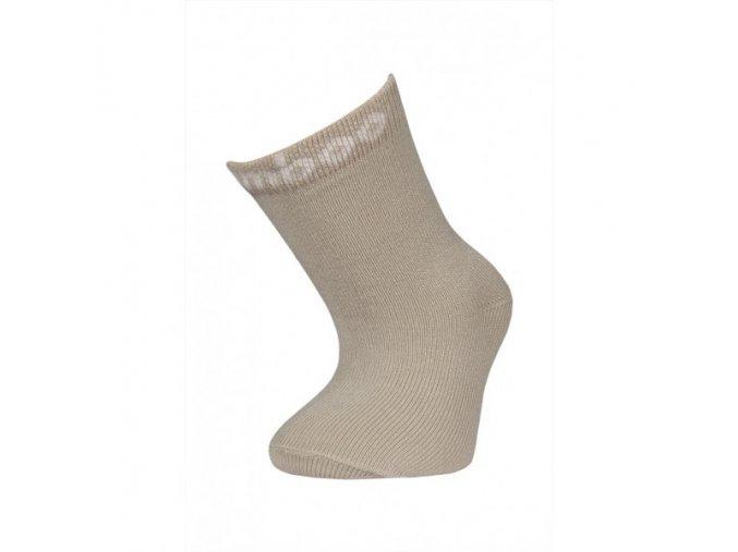 Dětské bambusové ponožky Bobík béžové