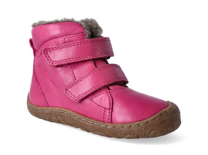 zimni obuv froddo barefoot wool fuchsia 2