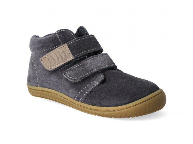 barefoot kotnikova obuv filii chameleon fleece graphit w 3