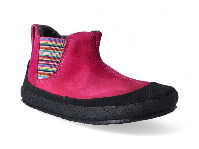 barefoot zimni obuv sole runner portia fuxia black 2