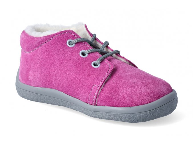barefoot zimni kotnikova obuv s membranou beda rebecca tkanicka 2
