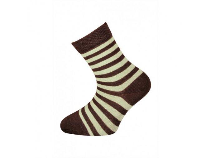 Dětské bambusové ponožky Babar hnědé