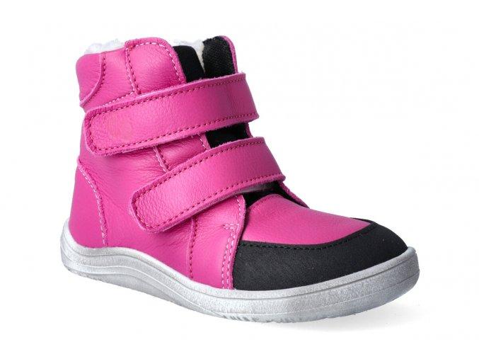 barefoot zimni obuv baby bare febo winter fuchsia asfaltico 2