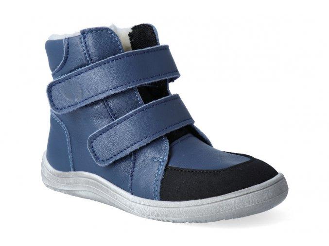 barefoot zimni obuv s membranou baby bare febo winter navy asfaltico 2