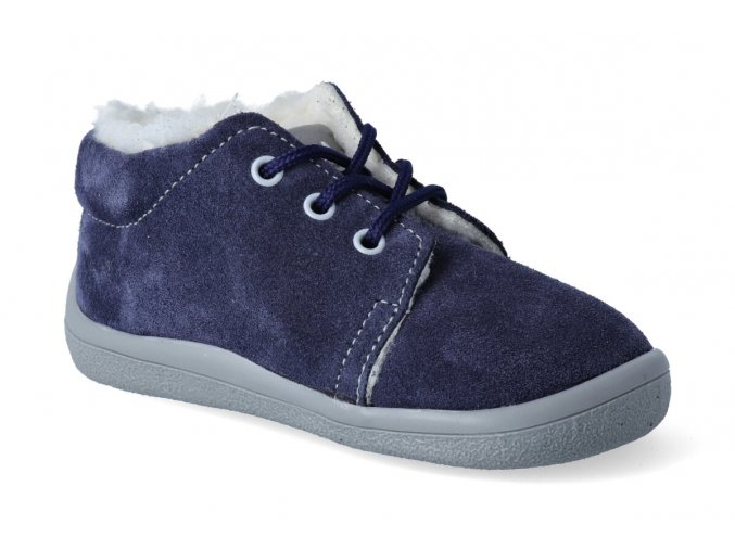 barefoot zimni kotnikova obuv s membranou beda lucas tkanicka 2