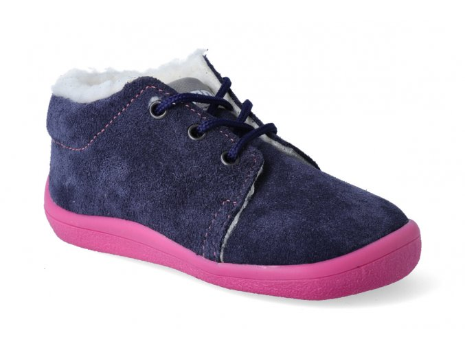 barefoot zimni kotnikova obuv s membranou beda elisha tkanicka 3