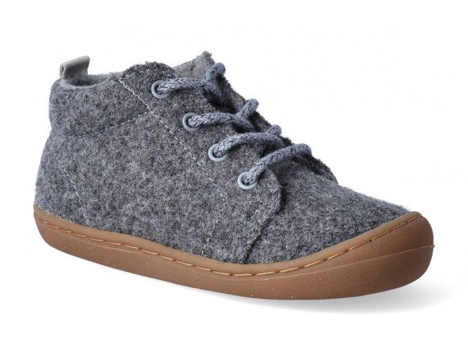 barefoot kotnikova obuv koel ben merino melang grey 3