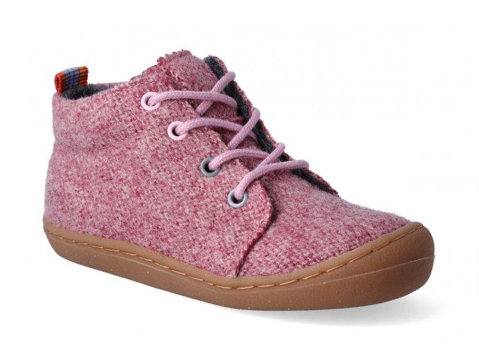 barefoot kotnikova obuv koel ben merino melang imperial pink 2