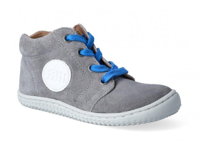 barefoot kotnikova obuv filii gecko graphit m 2