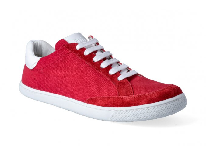 barefoot tenisky filii adult love you velours canvas red 2