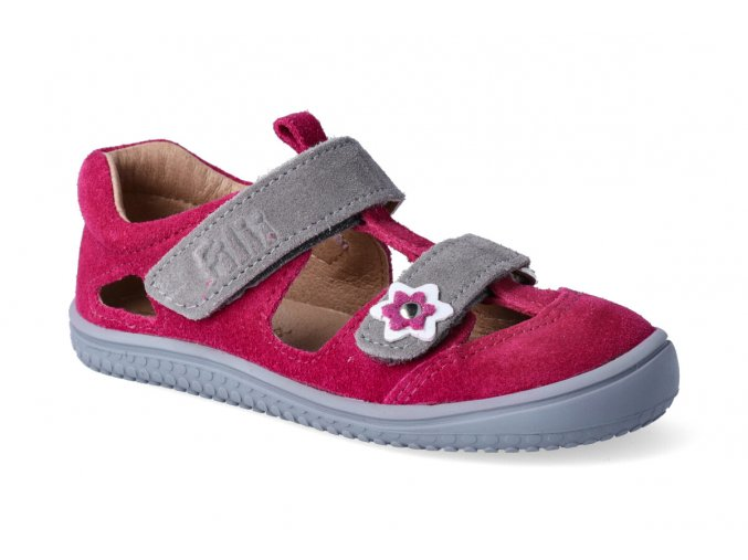 barefoot sandalky filii kaiman leather pink m 2