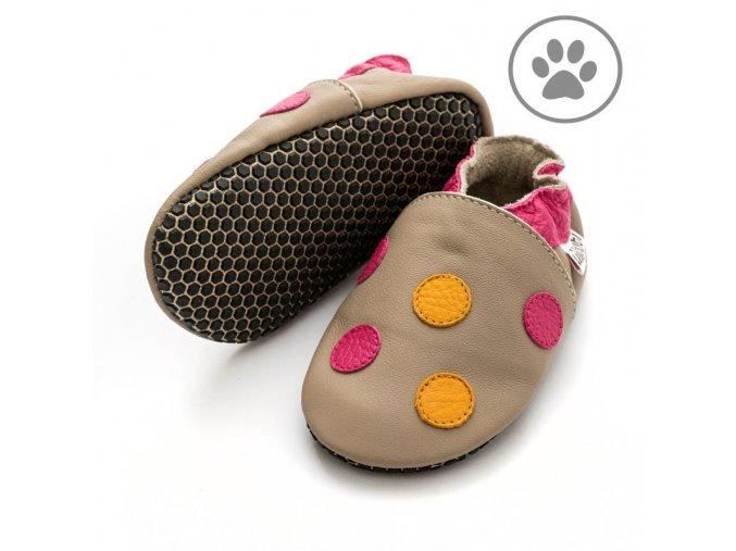 liliputi soft paws baby shoes polka dots pink 4264