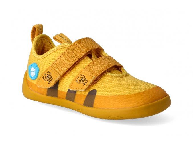 barefoot tenisky affenzahn cotton sneaker tiger yellow 3