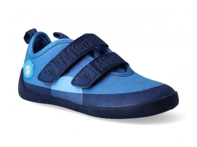 barefoot tenisky affenzahn cotton sneaker bear blue 2