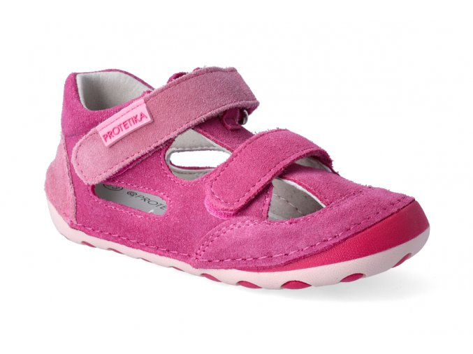 barefoot sandalky protetika flip fuxia 3