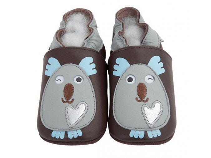 2526 1 chaussons cuir koala front
