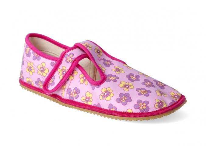 barefoot prezuvky beda sirsi typ ruzove kvitky 2