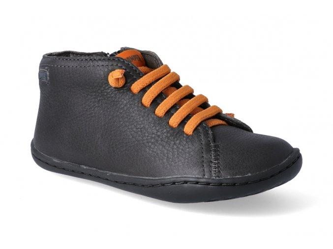 barefoot kotnikova obuv camper peu cami dione meteor grey 3