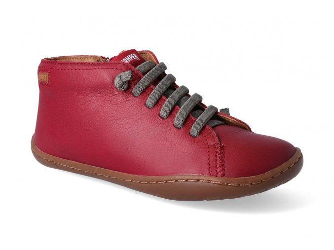 barefoot kotnikova obuv camper peu cami sella mars red 3