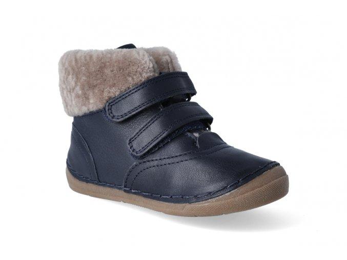 zimni obuv froddo flexible sheepskin girl dark blue 2 2