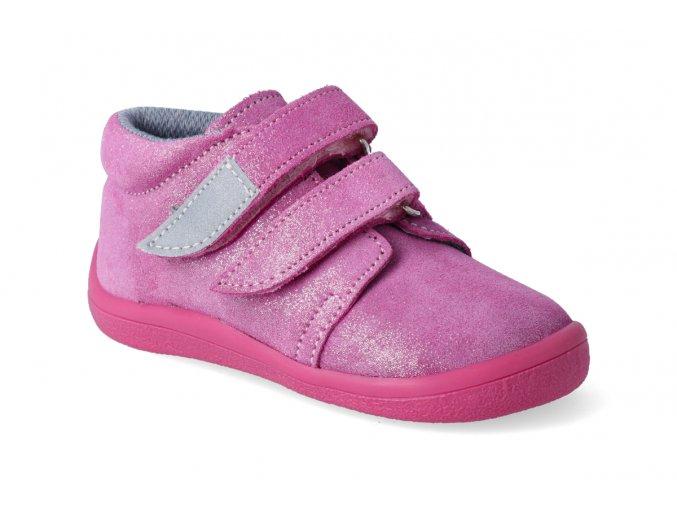 barefoot kotnikova obuv s membranou beda janette all pink 2