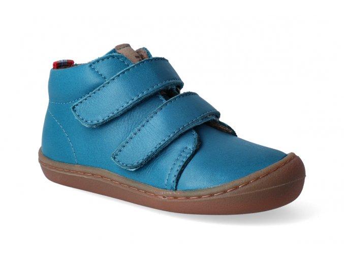 Barefoot kotníková obuv KOEL4kids - Korkid fleece turquise