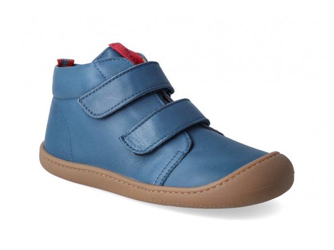 barefoot kotnikova obuv koel4kids plus nappa blue 3