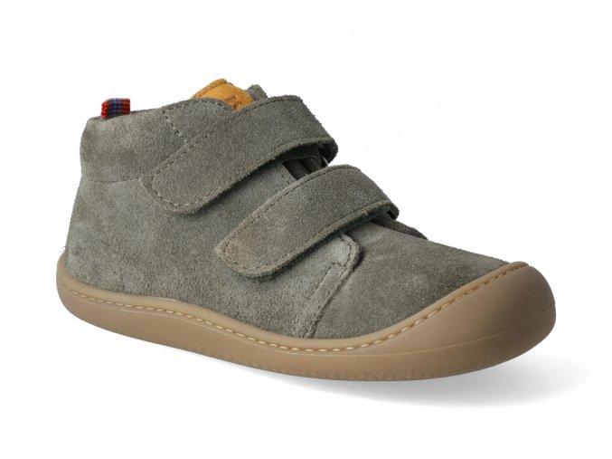 barefoot kotnikova obuv koel4kids plus fleece velour olive 2