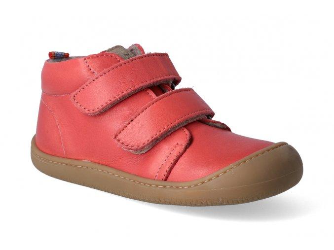 barefoot kotnikova obuv koel4kids plus fleece nappa coral 2
