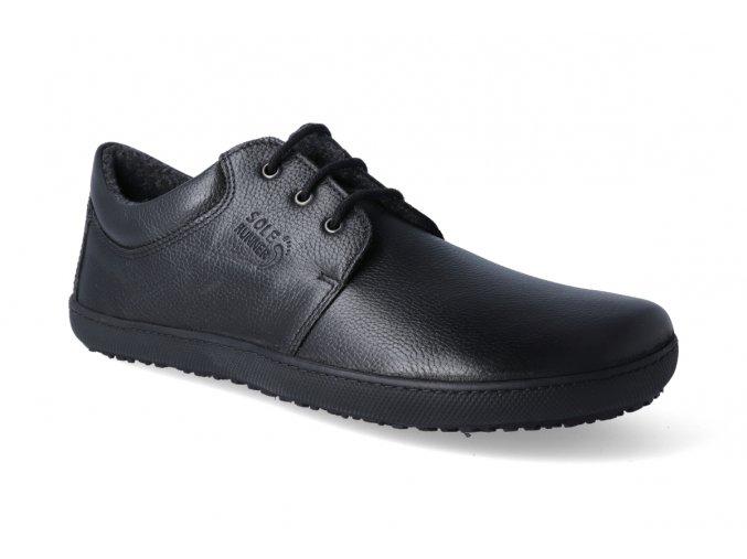 barefoot zateplena obuv sole runner kari smooth black 3