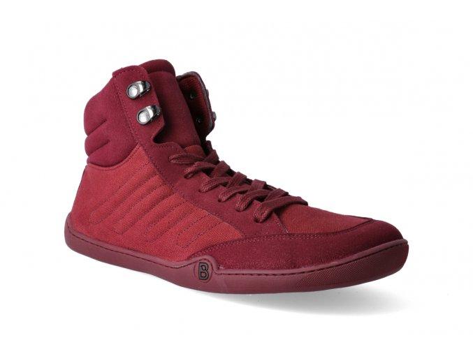 barefoot kotnikova obuv blifestyle urbanstyle micro textile berry1 2