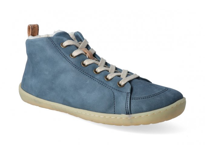 barefoot kotnikova zimni obuv mukishoes high cut raw blue 2