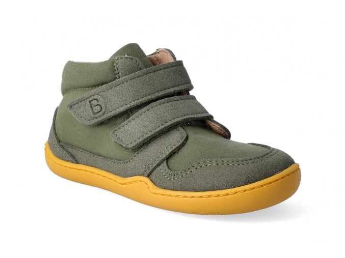 barefoot kotnikova obuv blifestyle loris velcro moosgrun 2