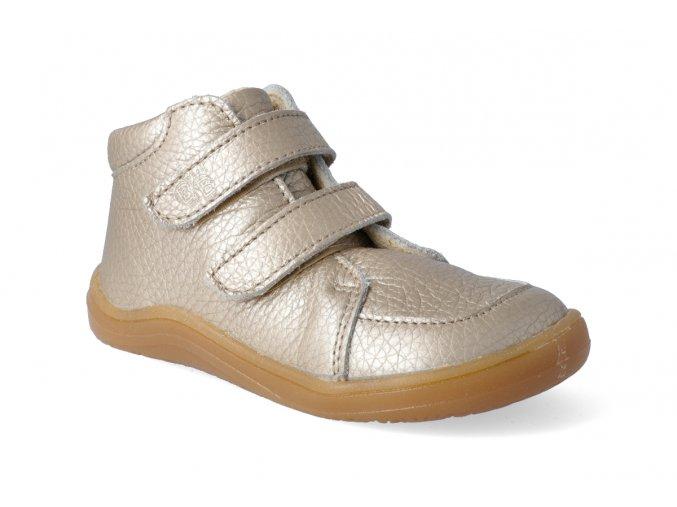 barefoot kotnikova obuv s membranou baby bare febo fall gold 3