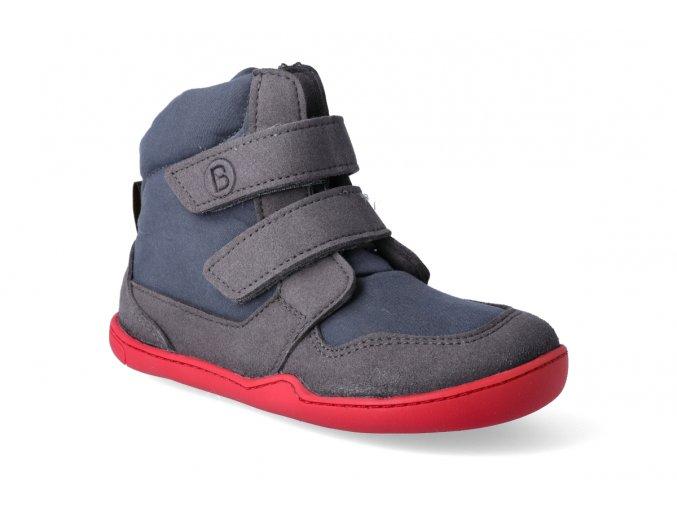 barefoot zimni obuv s membranou blifestyle eisbar wool velcro schiefergrau 2
