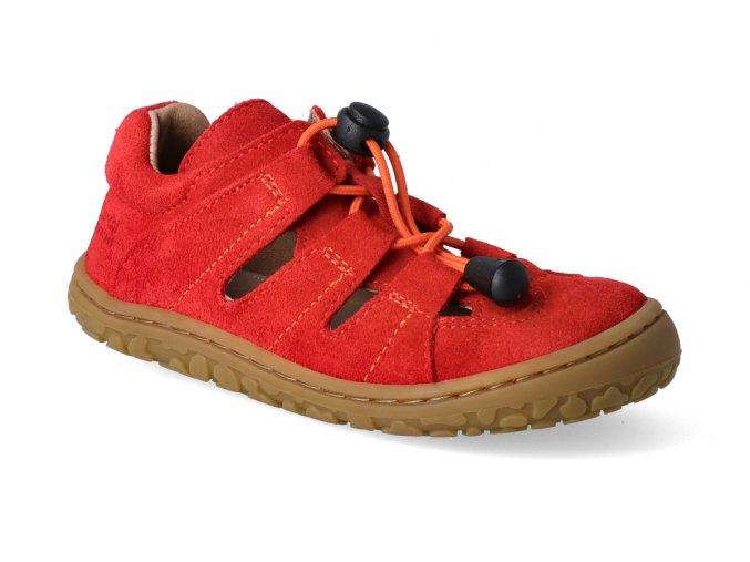 barefoot sandalky lurchi nathan cervena 2