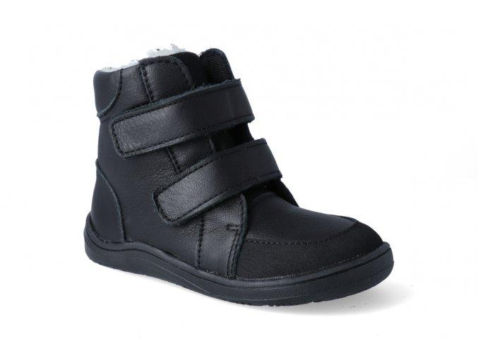 barefoot zimni obuv s membranou baby bare febo winter black 2