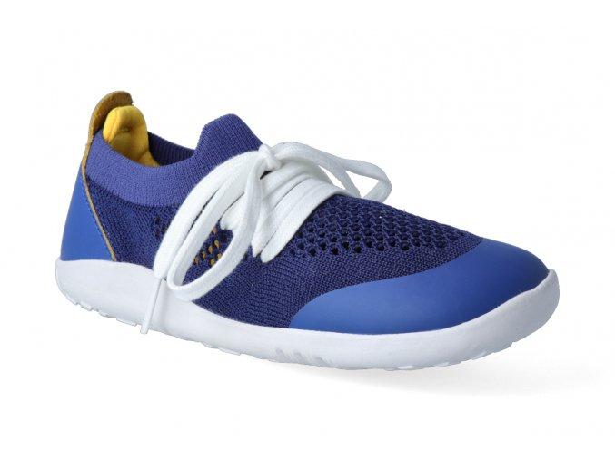 barefoot tenisky bobux play knit blueberry yellow 2