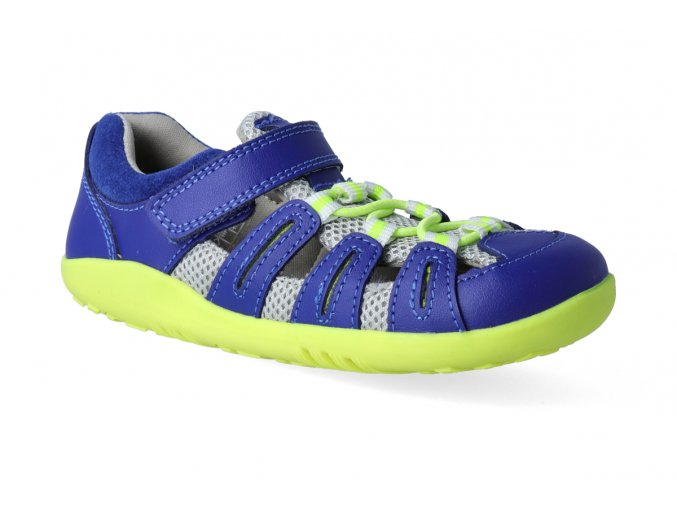 barefoot sandaly bobux summit blueberry neon 3