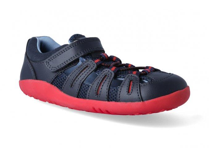 Barefoot sandály Bobux - Summit Navy + Red