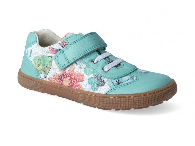 barefoot tenisky koel4kids bernardo aqua flower 2