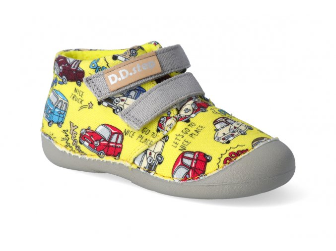 textilni kotnikova obuv d d step c015 976a yellow 2