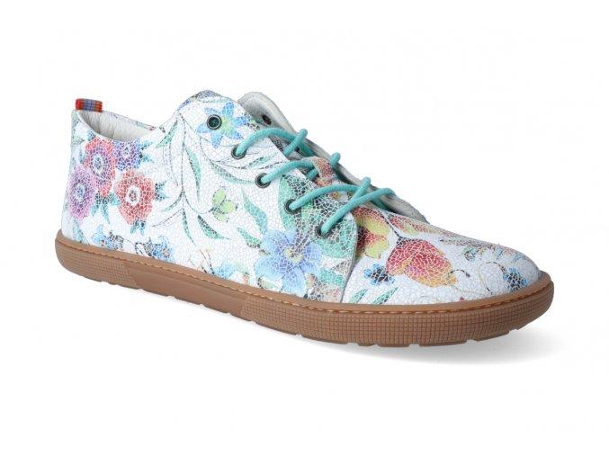 barefoot tenisky koel4kids lady white flower 3
