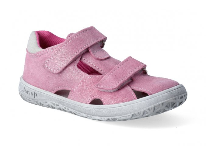 barefoot sandalky jonap b8s devon ruzova 2