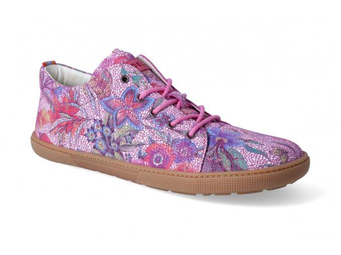 barefoot tenisky koel4kids lady fuchsia flowers 3