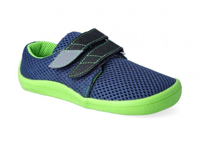 barefoot tenisky beda blue lime letni 2